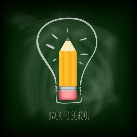 Back to school. Chalkboard background
