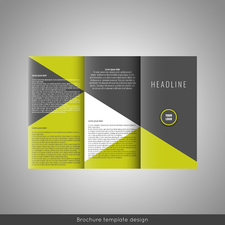 catalog: Trifold business brochure template design. Stock vector.