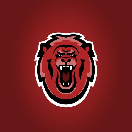 Lion sport team logo. Animal mascot. Stock vector
