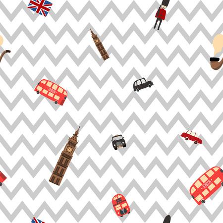 London seamless zig zag pattern Illustration