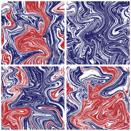 Marble texture background in american colors