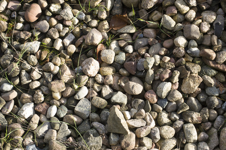 os: Abstract background with stones. Pile os stones Stock Photo