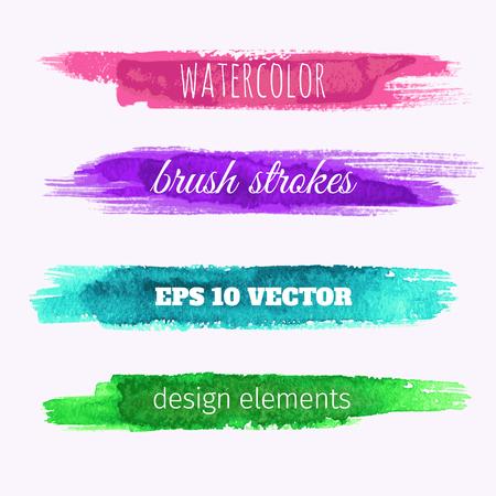 Set van vector aquarel verf textuur banners