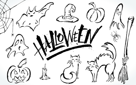 Halloween Clipart Set Royalty Free Cliparts Vectors And Stock