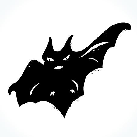 Hand drawn bat isolated on white background Illustration