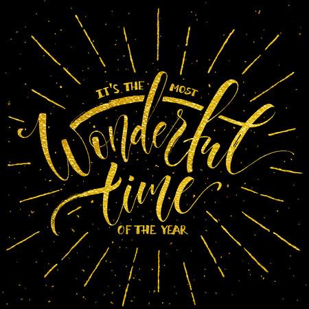 The most wonderful time of the year lettering Vektoros illusztráció