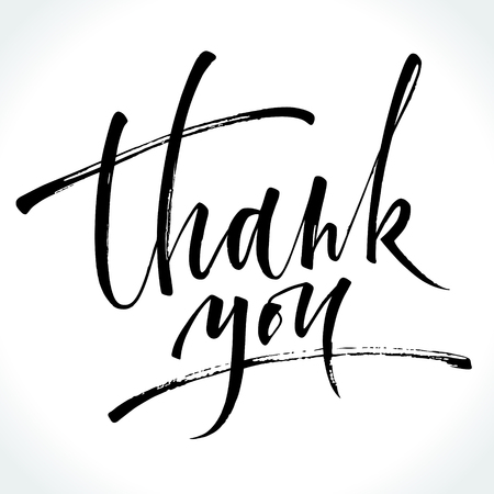Thank You modern calligraphy Stock Illustratie