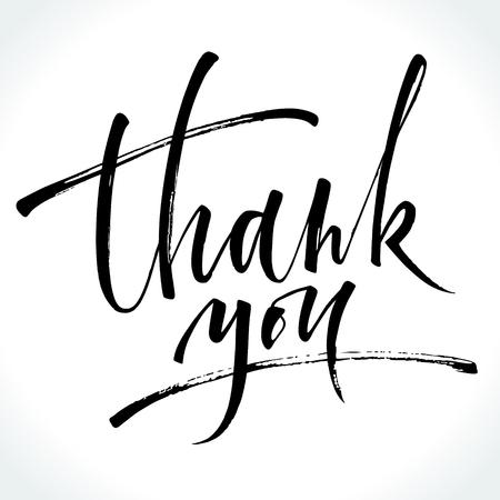 Thank You modern calligraphy Illustration