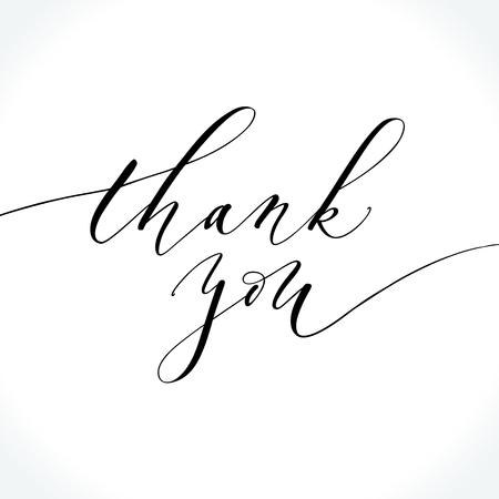 Thank You modern calligraphy