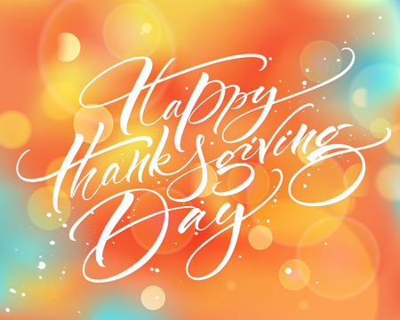 Happy Thanksgiving Day calligrafia moderna Archivio Fotografico - 88676742