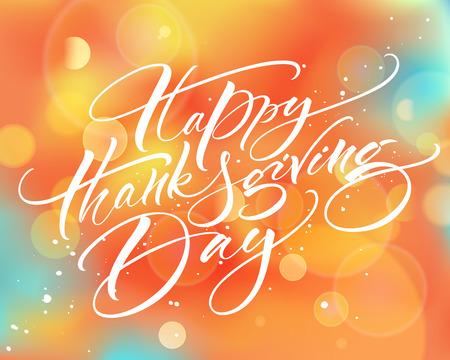 Happy Thanksgiving Day moderne Kalligraphie Vektorgrafik