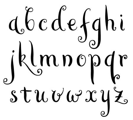 Fairytale hand drawn alphabet Illustration