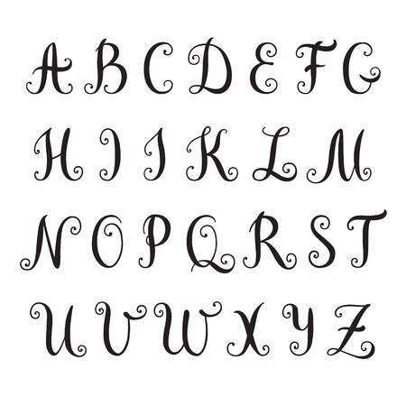 Hand drawn alphabet. Vector illustration Illustration