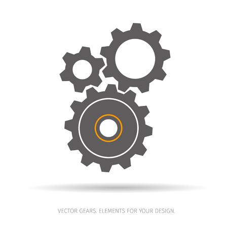 Gear and cogwheel icon Illustration