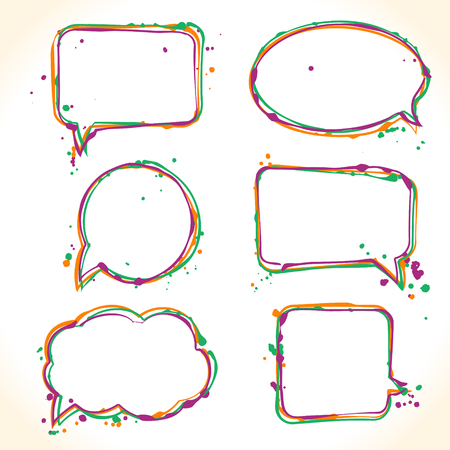 Hand drawn colorful bubble speech Reklamní fotografie - 88844227
