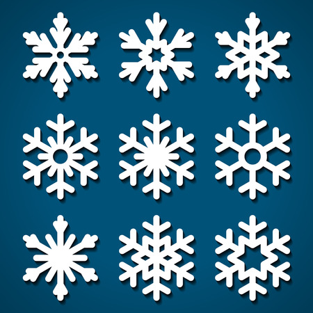 Snowflakes set for Christmas design  イラスト・ベクター素材