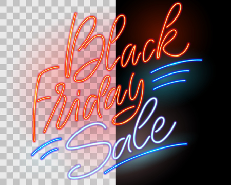 Black Friday Sale. Neon sign