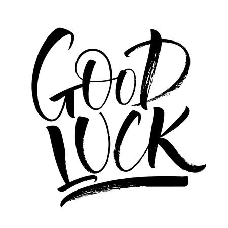 Good Luck lettering vector illustration.