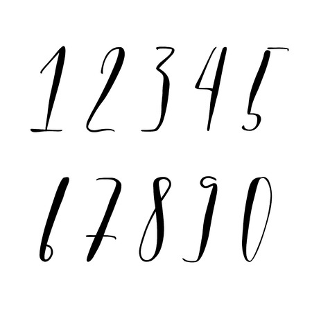 Pen lettering numbers