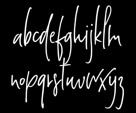 Ballpen handwritten vector alphabet