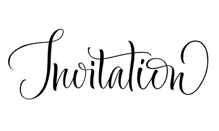 Invitation Lettering