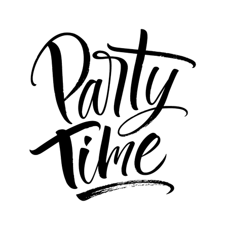 Party Time Lettering Ilustrace