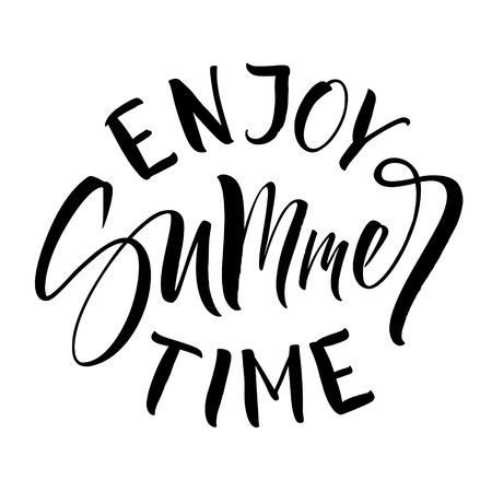 Enjoy Summer Time Lettering Ilustrace