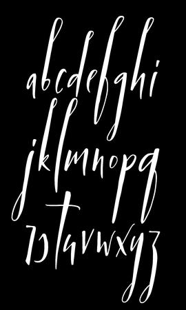 Pen handwritten vector alphabet