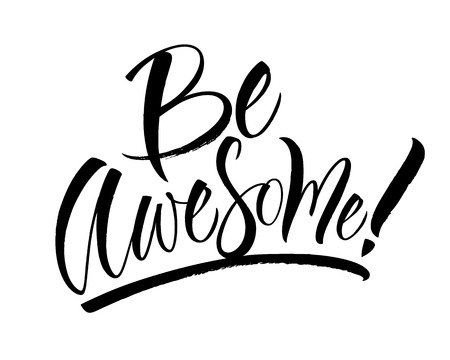 Be Awesome Lettering Ilustrace