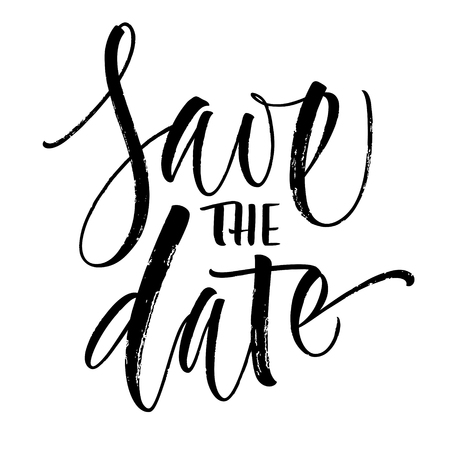 Save the Date Lettering Ilustrace