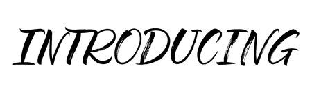 Einführung von Schriftzügen. Handgeschriebene moderne Kalligraphie, Pinsel gemalte Buchstaben. Vektor-Illustration. Vorlage für Poster, Flyer, Grußkarten, Einladungen und verschiedene Designprodukte