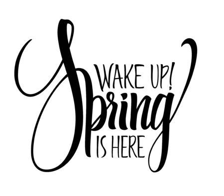 Spring lettering 向量圖像