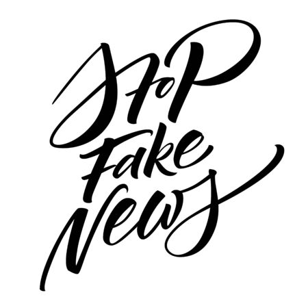 Stop Fake News hashtag lettering