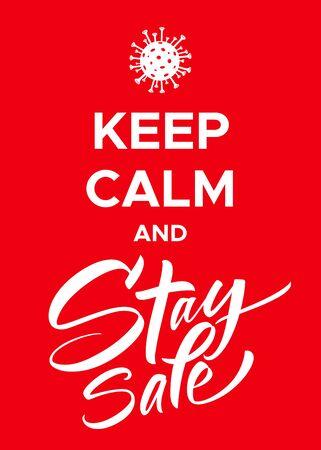 Keep Calm and Stay Safe Coronavirus Poster