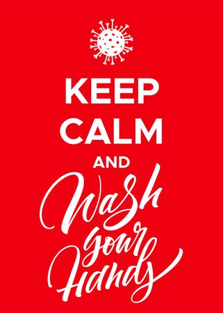 Keep Calm and Wash Your Hands Coronavirus Poster