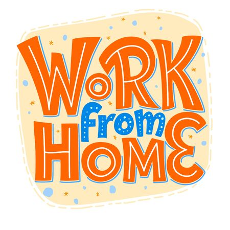 Work From Home 矢量图像