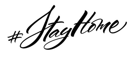 Stay Home hashtag lettering