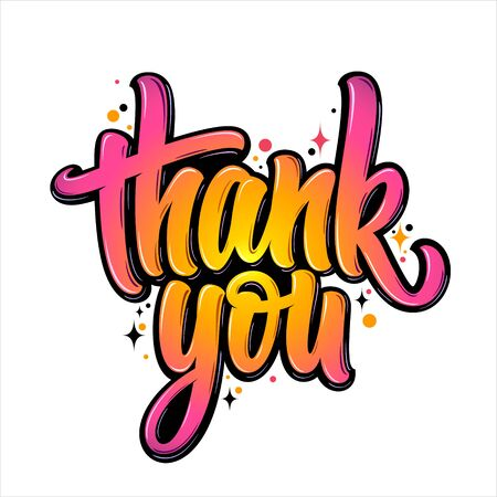 Thank You lettering 向量圖像