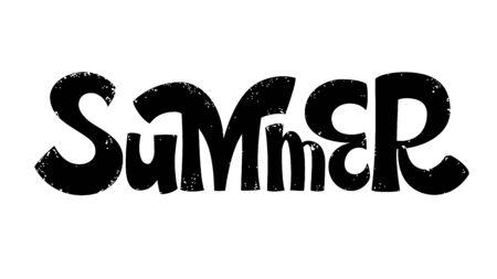 Summer hand lettering background