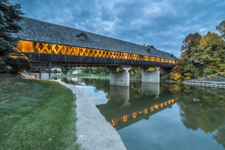 Frankenmuth michigan covered bridge photo