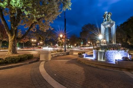 europeans: Frankenmuth michigan main street fountain Stock Photo
