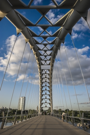 humber bridge torontos pedestrian bridge Фото со стока