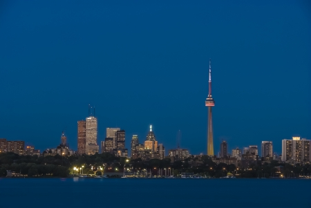 toronto skyline stunning view during dusk Stock Photo - 16821302