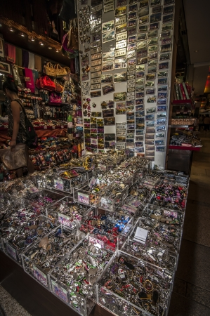 souvenir shop at the busy streets of Hongkong