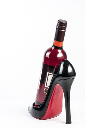 sexy wine rack with bottle of rose wine
