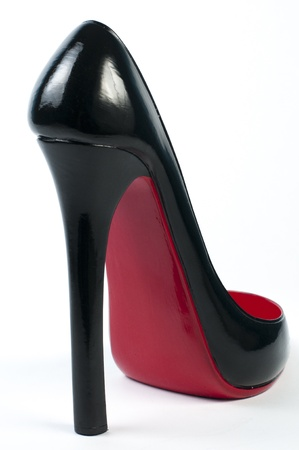 high heel shoe as wine rack ornaments photo