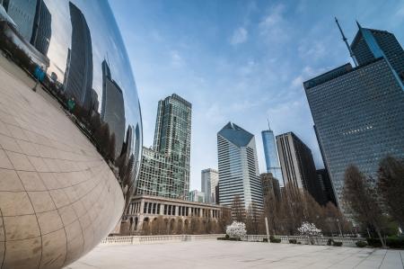 The beam at millenium park Chicago Illinois USA