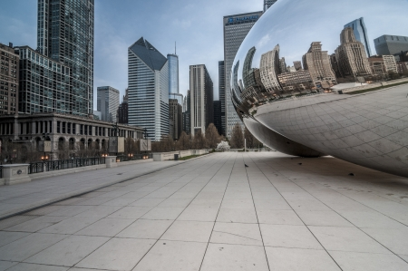 The beam at millenium park Chicago Illinois USA Stock Photo - 16961317