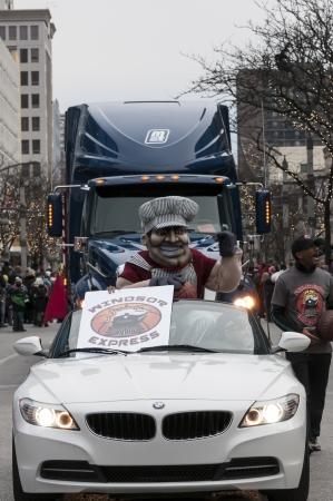 Windsor Ontario canada  Christmas parade , Windsor express basketball team