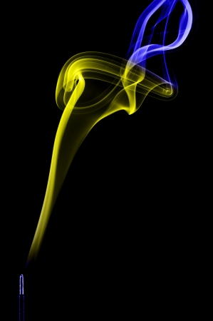 Smoke art with black background in toned color Stock Photo - 17200817